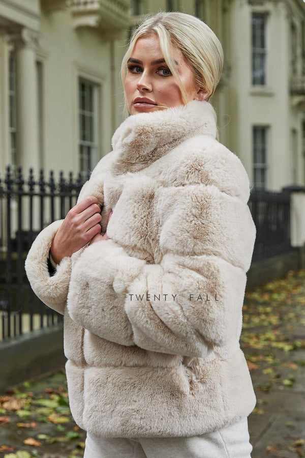 Faux Fur Lola Latte Coat
