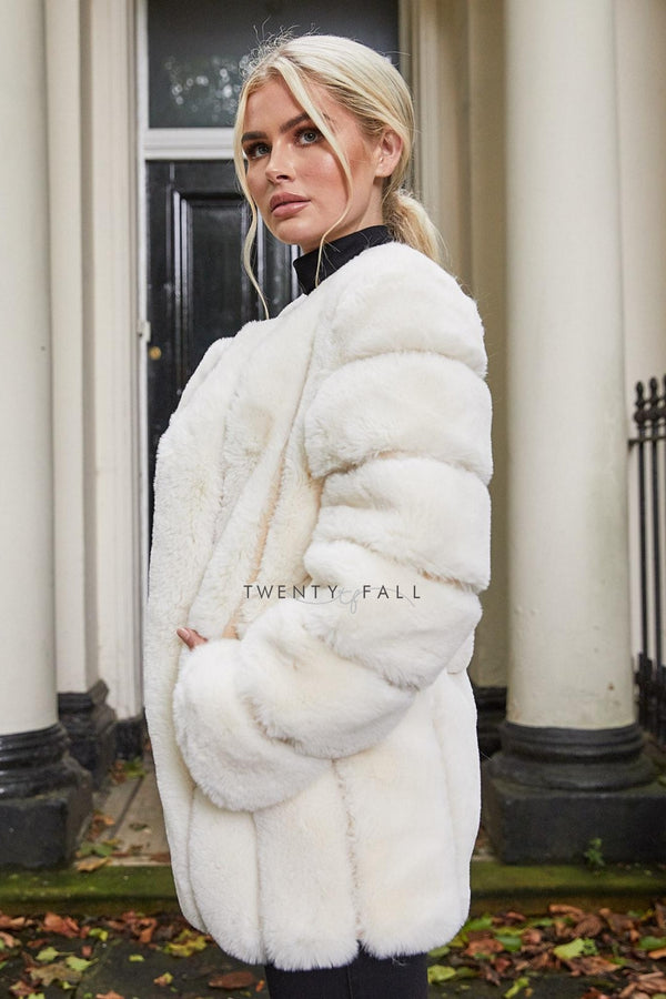 Faux Fur Vanilla Long Coat