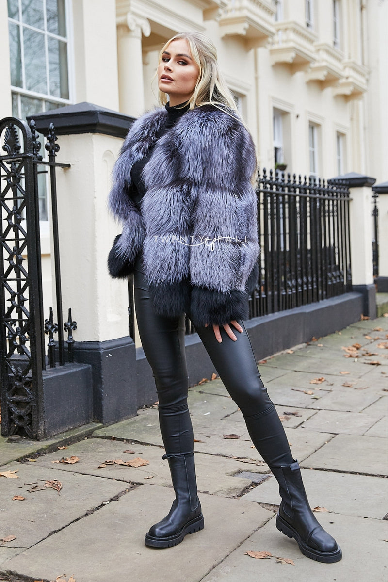 Millie Silver Fox Fur Coat