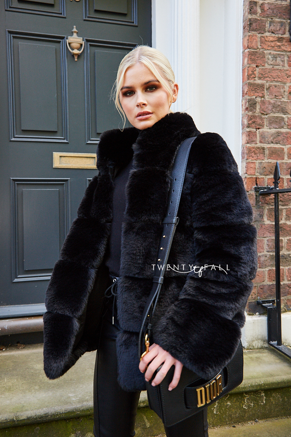 Faux Fur Lola Black Coat