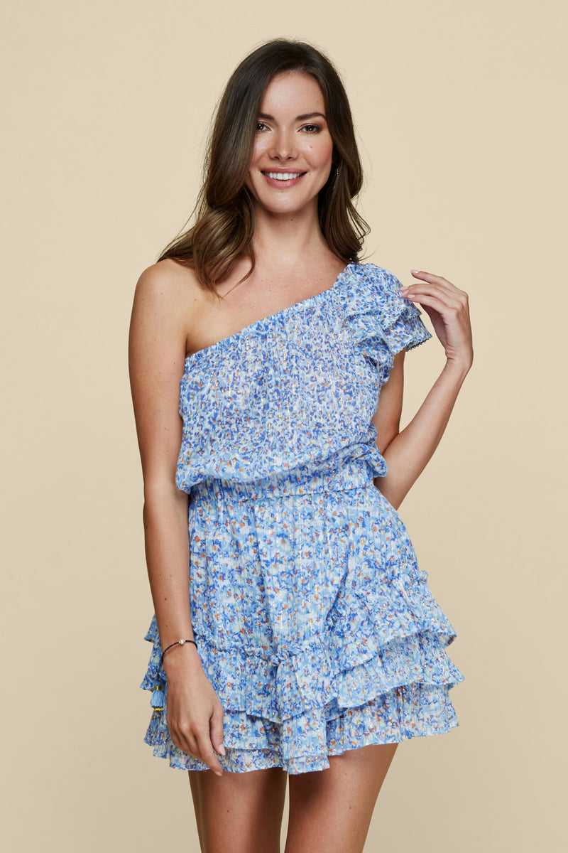 Kaia Ruffled Mini Dress
