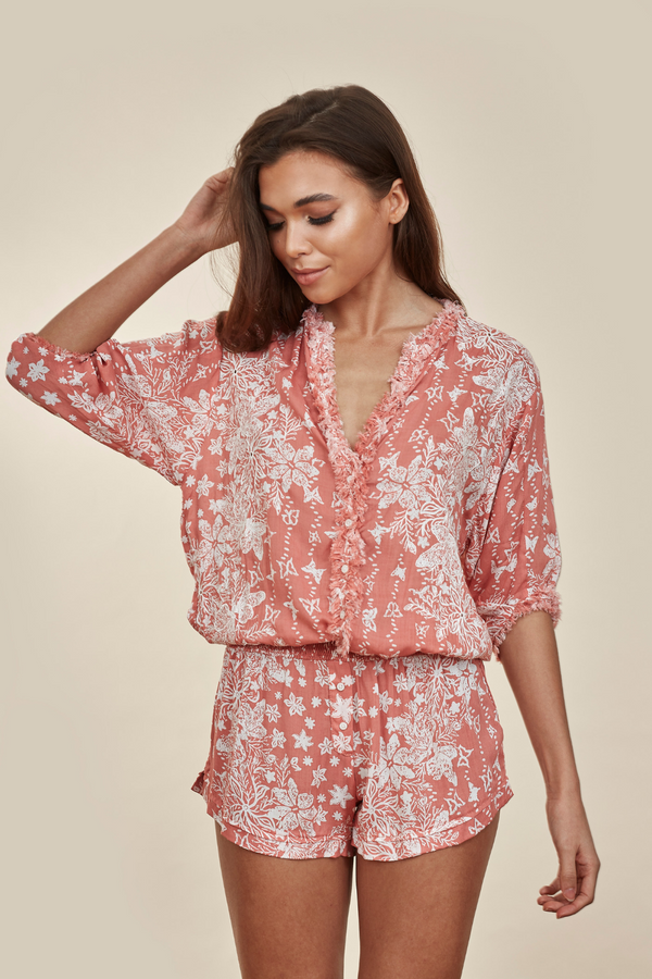 Ilona Broderie Pink Butterfly Playsuit