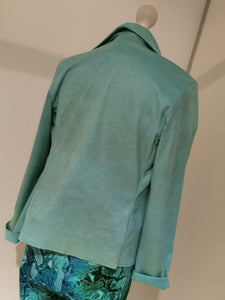 MADE IN ITALY Veloursjacke mint