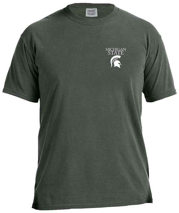 bd5e65be0312 Image One NCAA Michigan State Spartans Simple Circle Comfort Color Short  Sleeve T-Shirt