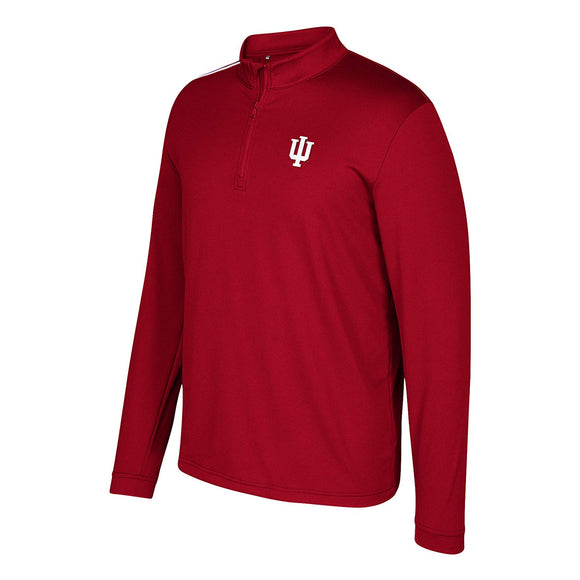 size 40 2999c 6683a adidas NCAA Indiana Hoosiers Adult Men Spring Game 3-Stripe 1 4 Zip Pullover