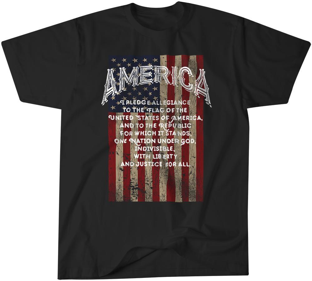 America T Shirt - Pledge of Allegiance
