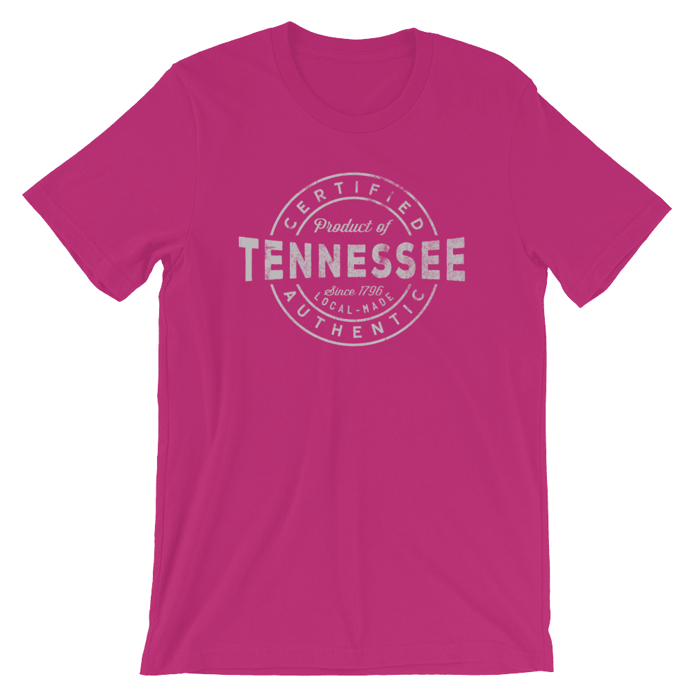 Tennessee T Shirt - Certified Product of Tennessee