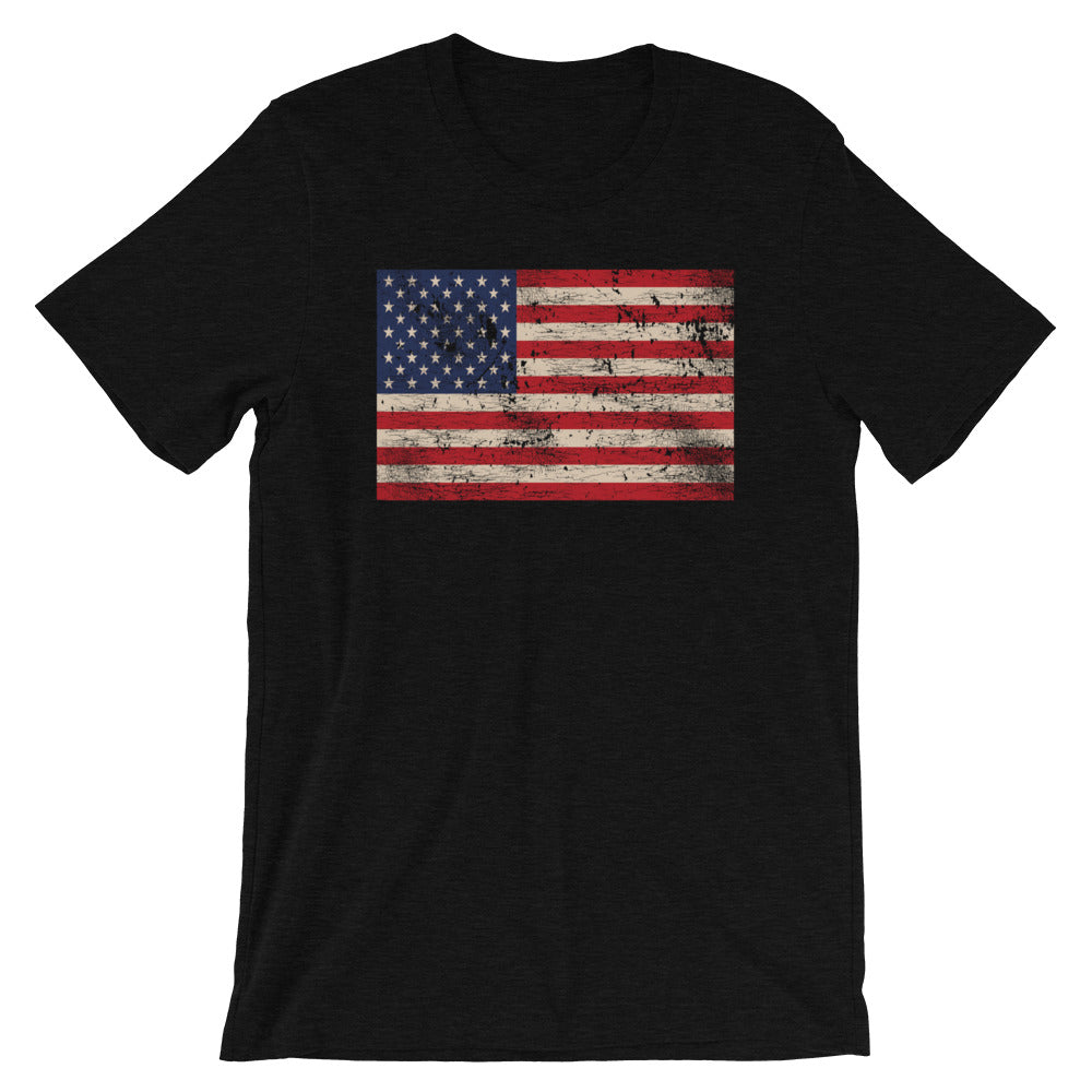 American Flag T Shirt | Old Glory Distressed Tee | USA Flag Shirt | Vintage Flag T Shirt | Tattered Flag Shirt | American Flag Tee | Unisex