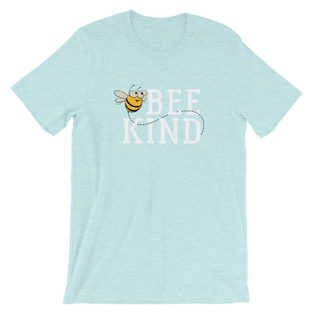 Bee Kind Honey Bee Short-Sleeve Unisex T-Shirt | Ugly Pelican Tees | Heather Prism Ice Blue