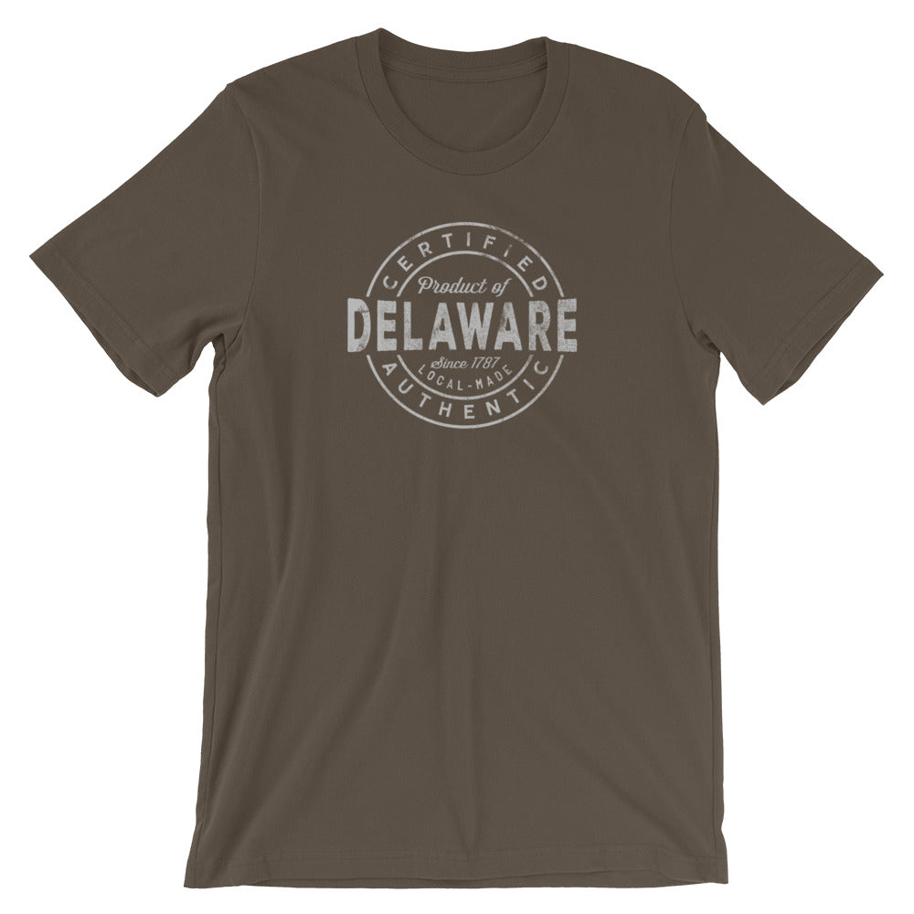 Delaware State TShirt Certified Product of Delaware Tee