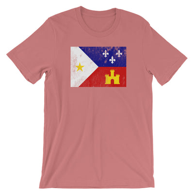 Acadiana Flag Louisiana TShirt Distressed Vintage Look Graphic Tee