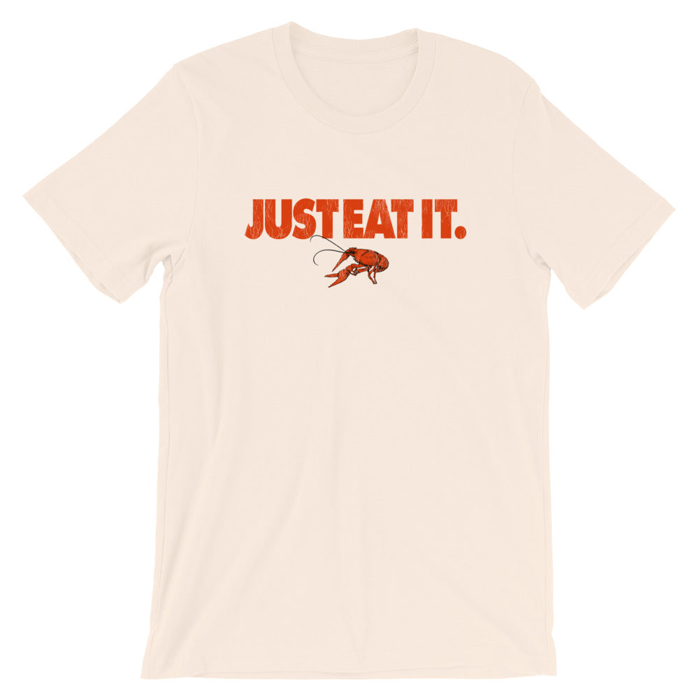 Just Eat It Crawfish TShirt Parody Logo