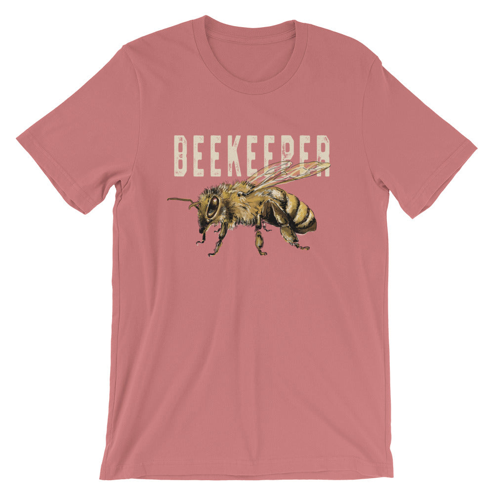 Beekeeper Honeybee TShirt Vintage Look Distressed Graphic Tee