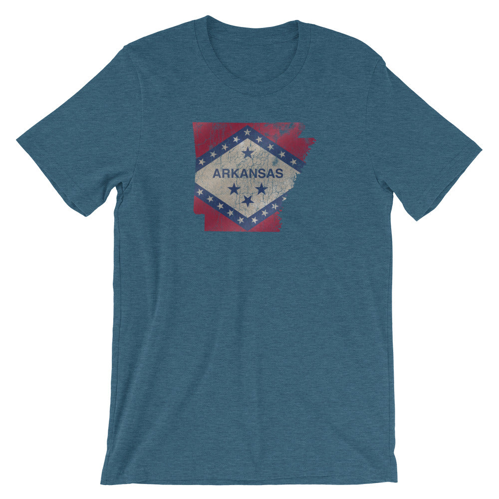 Arkansas State Flag TShirt - Vintage Distressed Graphic Tee