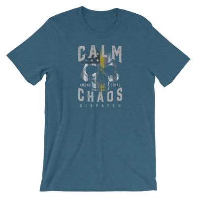 Dispatcher T Shirt, Calm Among Total Chaos Skull Shirt.