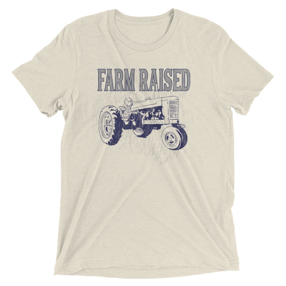 Farm Raised Unisex T Shirt Vintage Look Old Tractor Tee Shirt