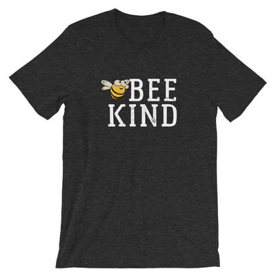 Bee Kind Honey Bee Short-Sleeve Unisex T-Shirt | Ugly Pelican Tees | Gray