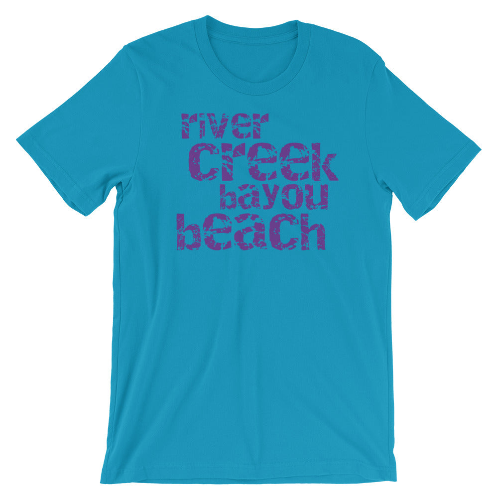 River Creek Bayou Beach Vintage Look TShirt