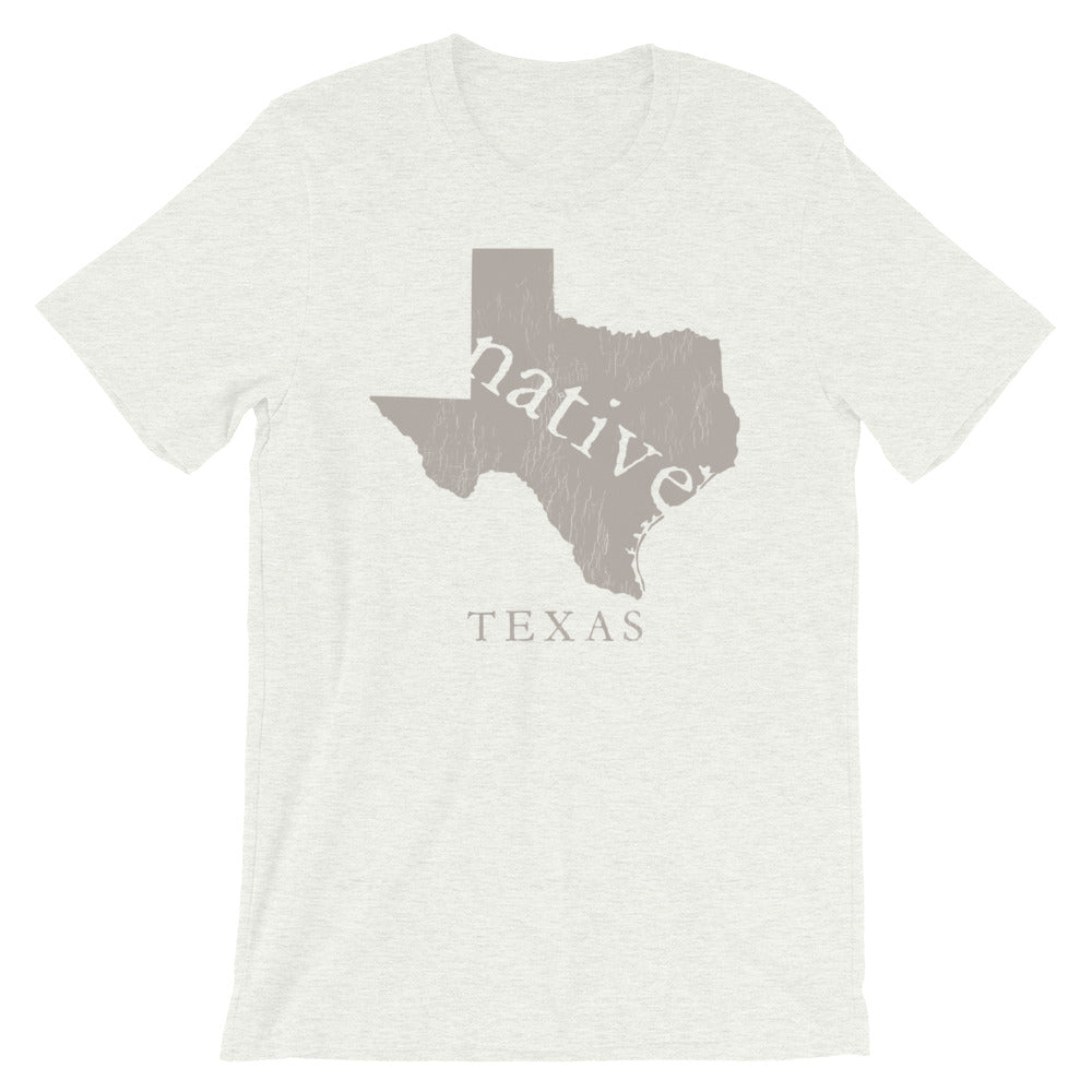 Texas TShirt Native of Texas Vintage Look State Home Native Tee
