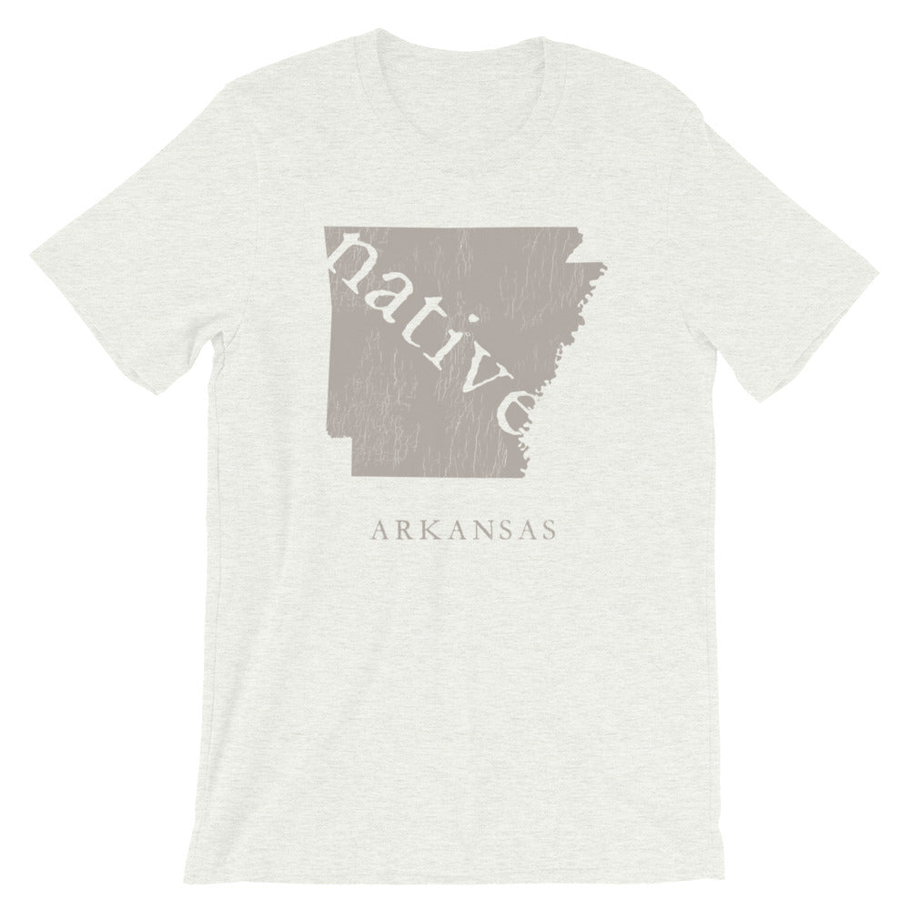 Arkansas Native Home TShirt Vintage Distressed Look Graphic Tee