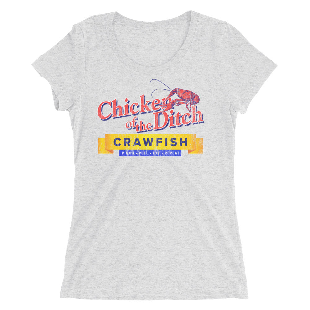 Chicken of The Ditch Crawfish TShirt for Women