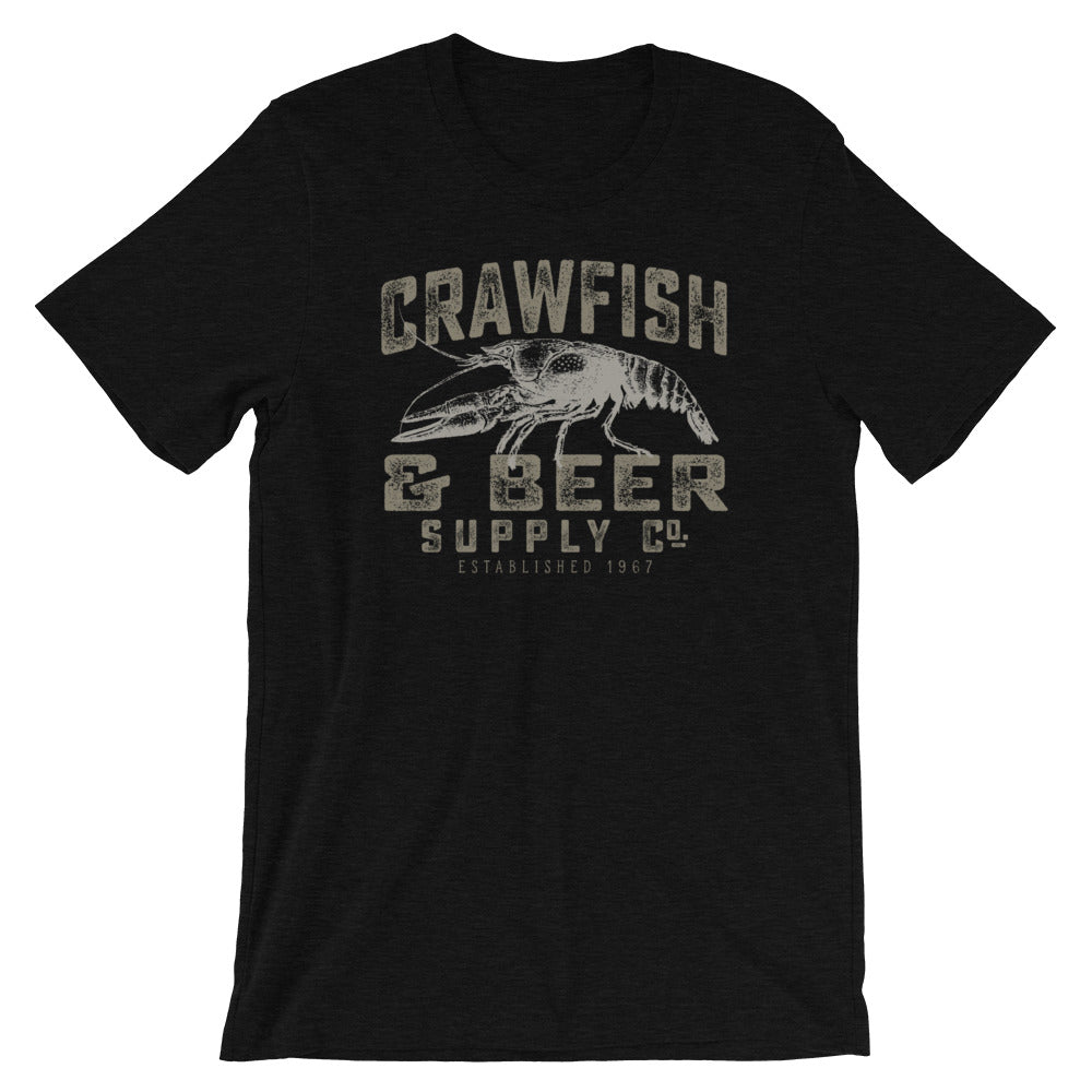 Crawfish and Beer Supply Co. Vintage Label Crawfish TShirt