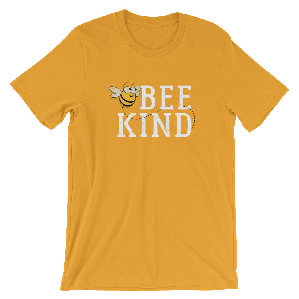 Bee Kind Honey Bee Short-Sleeve Unisex T-Shirt | Ugly Pelican Tees | Mustard