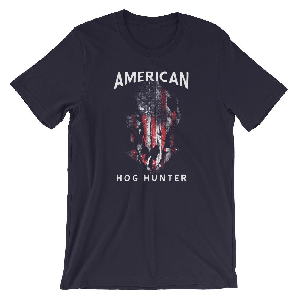Hog Hunting T Shirts - American Hog Hunter Tee In Black
