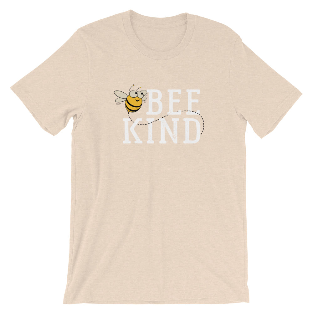 Bee Kind Honey Bee Short-Sleeve Unisex T-Shirt | Ugly Pelican Tees | Heather Dust