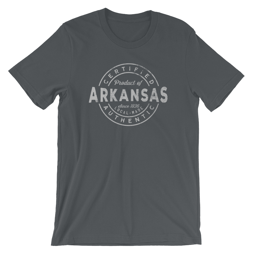 Arkansas T Shirt - Certified Product of Arkansas