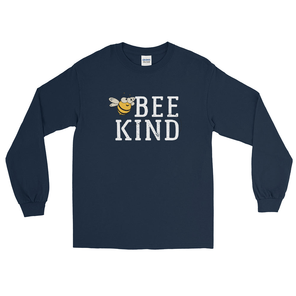 Bee Kind Honey Bee Long Sleeve Tee | Navy