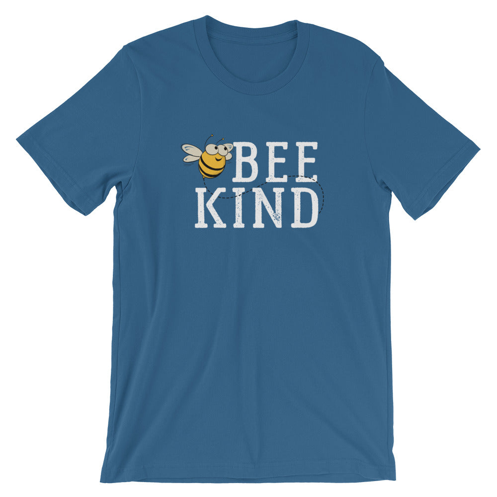 Bee Kind Honey Bee Short-Sleeve Unisex T-Shirt | Ugly Pelican Tees | Steel Blue