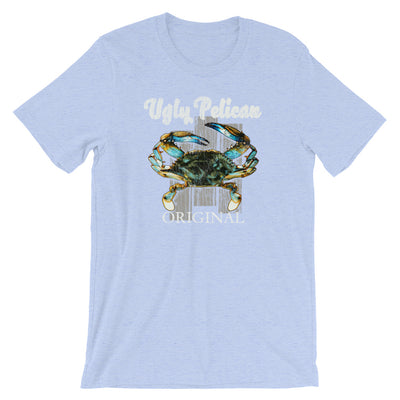 Blue Crab Ugly Pelican Short-Sleeve Unisex T-Shirt