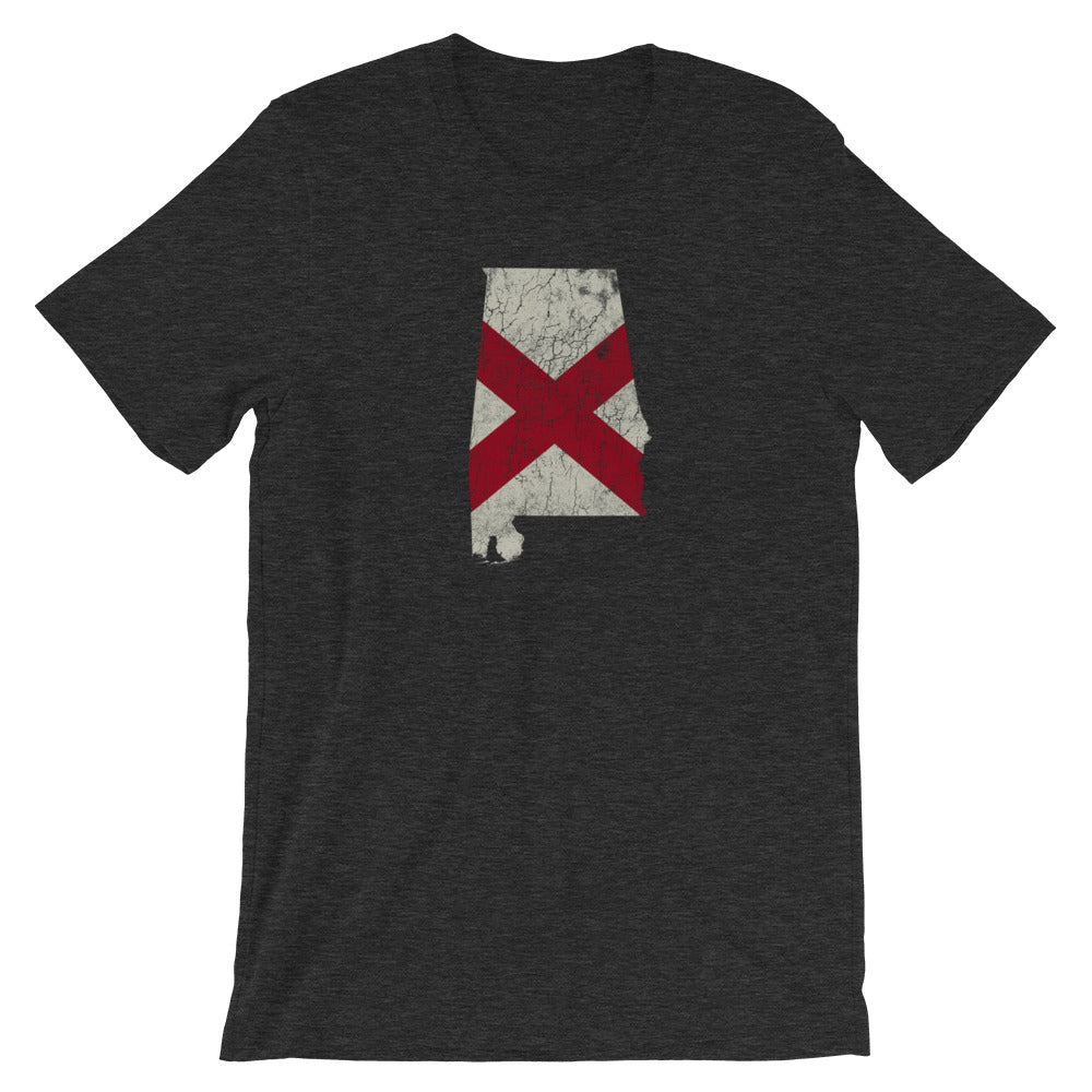 Alabama TShirt, Vintage Flag Soft Tee, State Flag Distressed Unisex Shirt