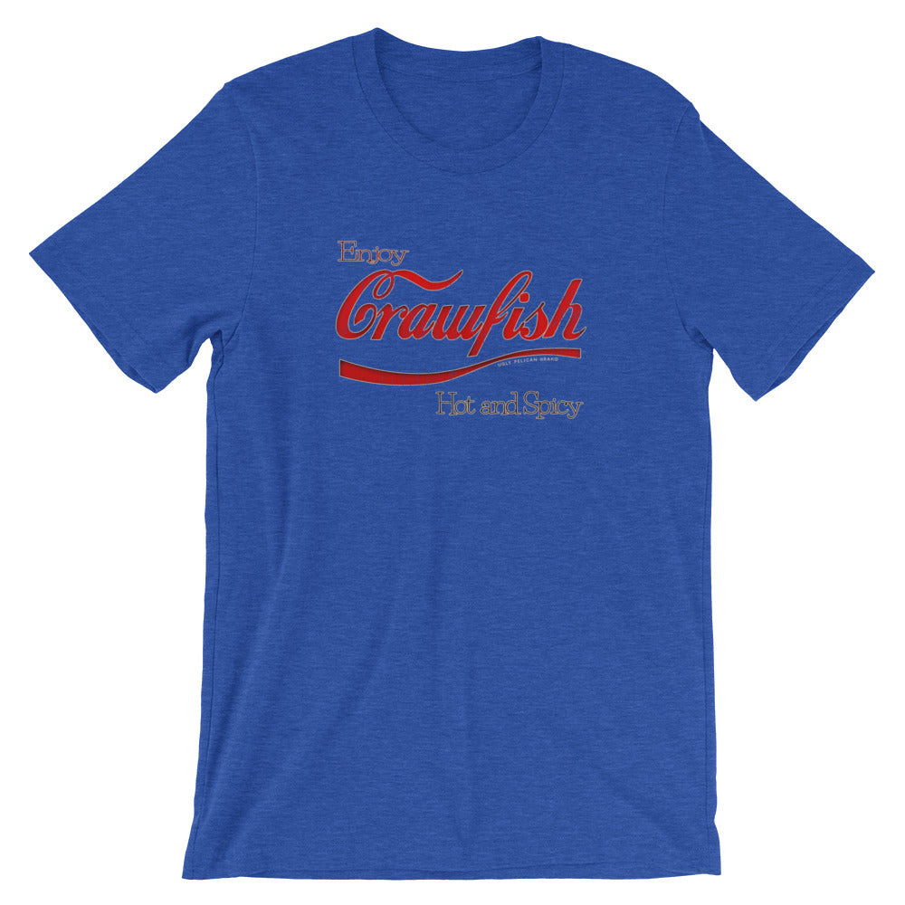 Enjoy Crawfish, Hot and Spicy TShirt, Funny Parody Tee.