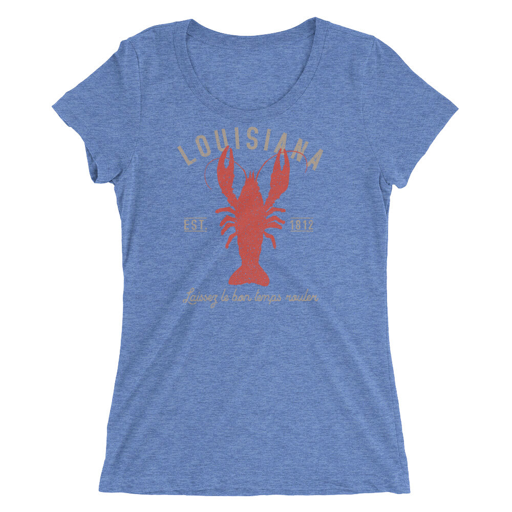 Louisiana Crawfish TShirt Ladies' Short Sleeve TShirt