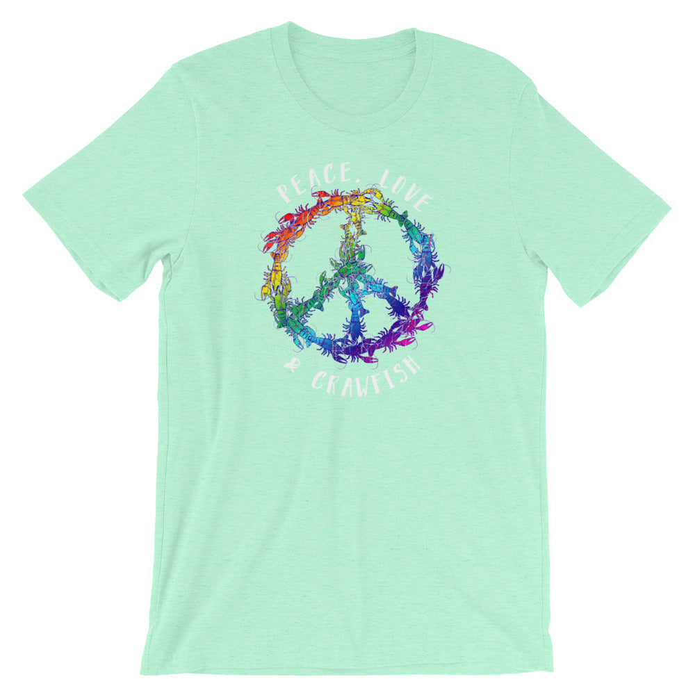 Peace, Love and Crawfish. Peace Sign Retro Hippie Crawfish TShirt