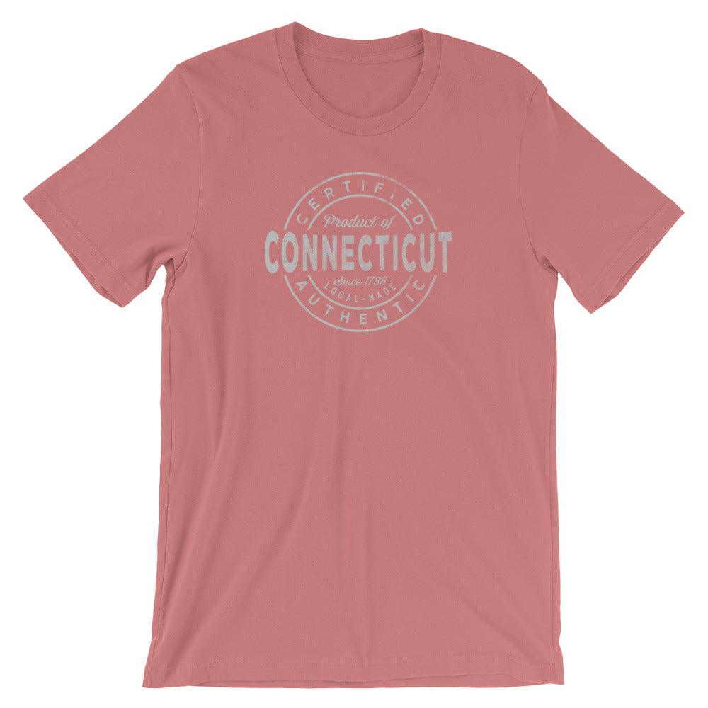 Connecticut State TShirt Certified Product of Connecticut Tee