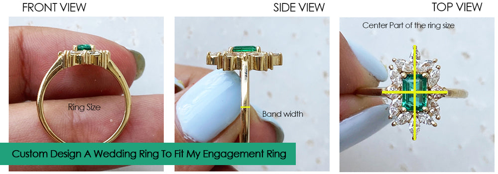 How we design a wedding ring to fit your engagement ring?