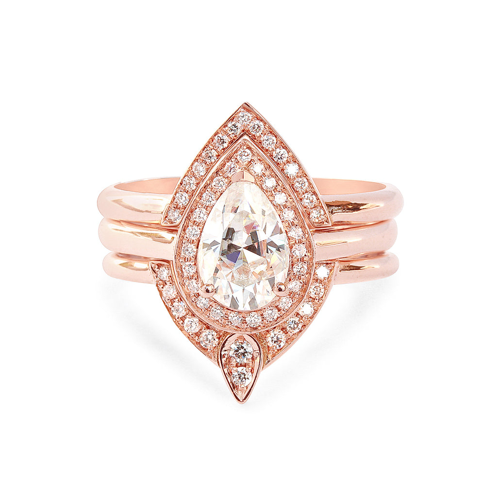 Private Listing for Stephen - 3rd Eye Top Ring - 18K Rose Gold, Size 5 - sillyshinydiamonds