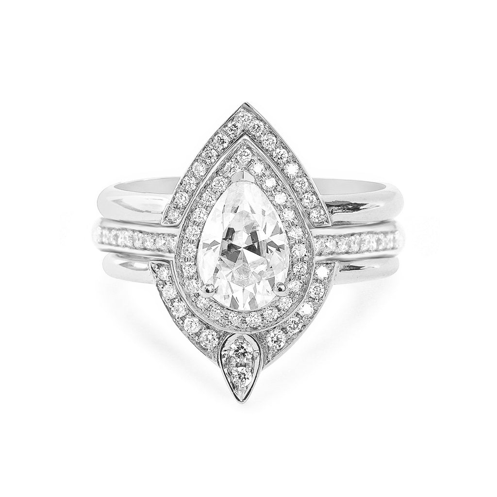Private listing for Kelli - 18K white gold ,additional diamonds on engagement ring band - sillyshinydiamonds