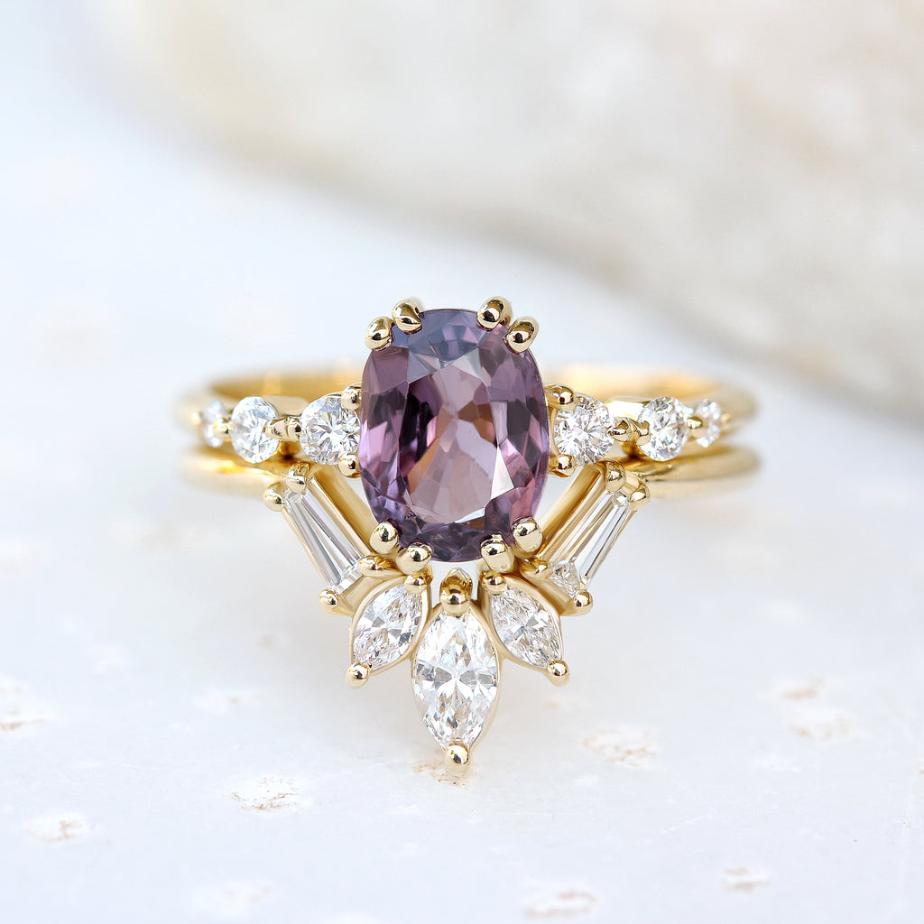 'Artemis' vintage Chevron Diamond Ring - sillyshinydiamonds