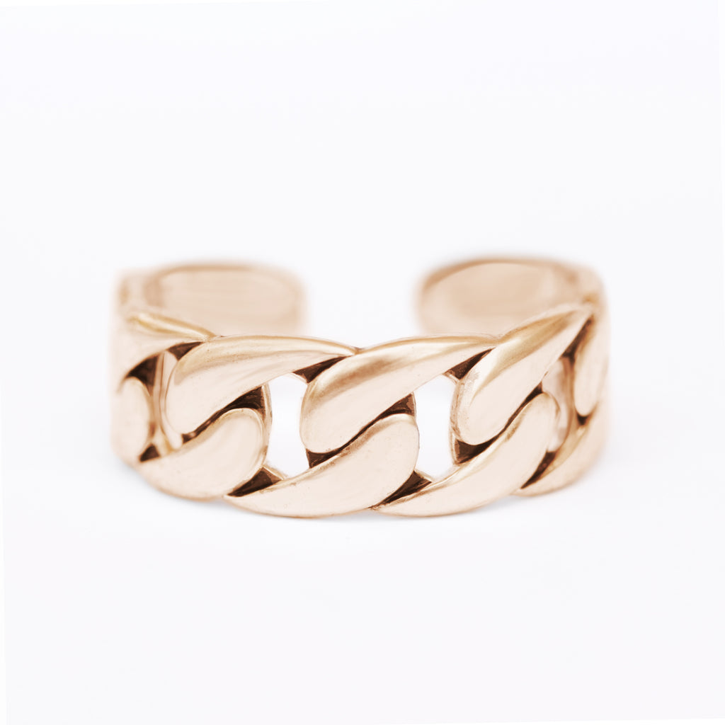 Simulated Chain Cuff Ring