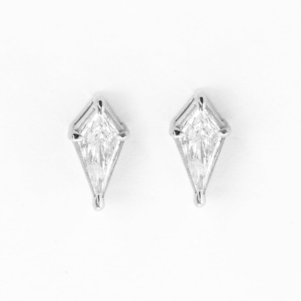 Kite diamond dainty stud earrings - sillyshinydiamonds