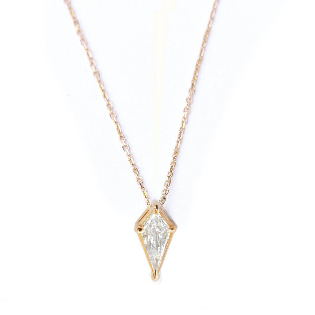 kite diamond pendant necklace yellow gold
