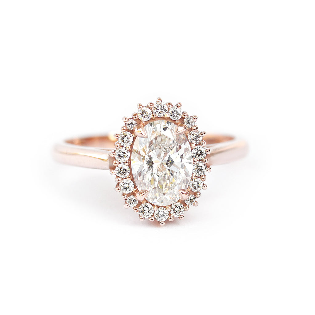Oval Diamond 1.16 carat Unique Engagement Ring, Diana - sillyshinydiamonds