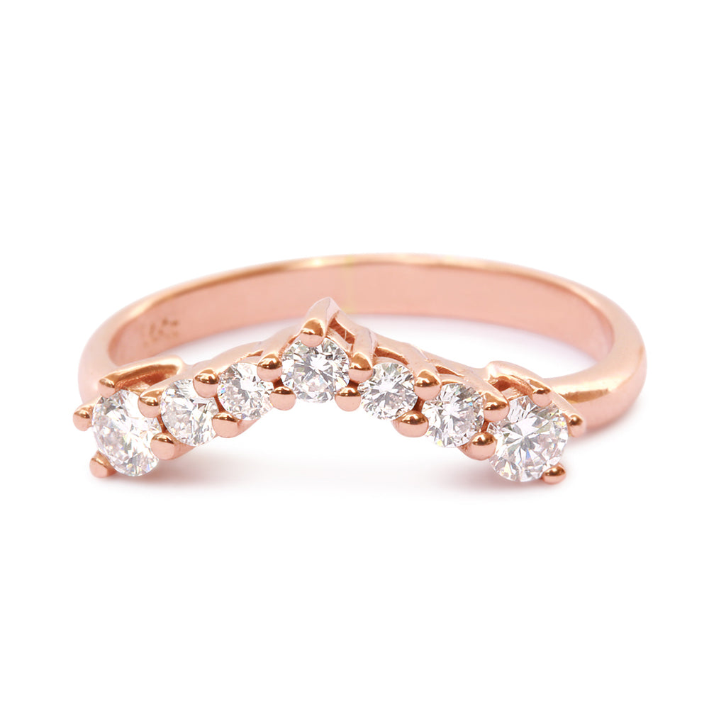 Tiff's Ring 0.25ct Diamond Chevron Classic Wedding V Ring