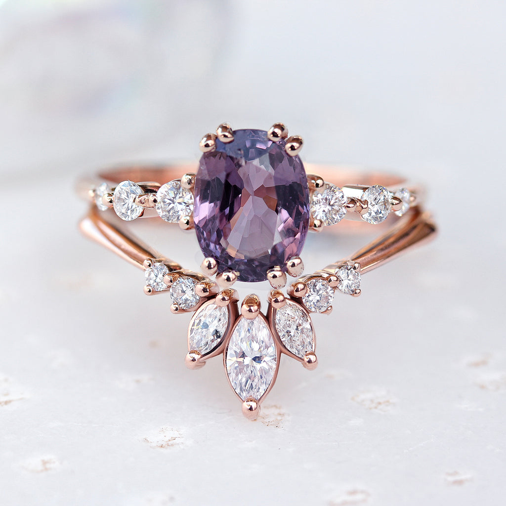 'Danielle' unique Chevron Marquise Diamond Ring - sillyshinydiamonds