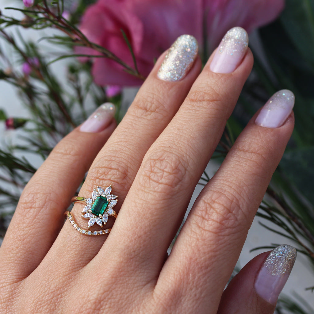 Emerald cut Emerald Engagement ring, Charlotte - sillyshinydiamonds