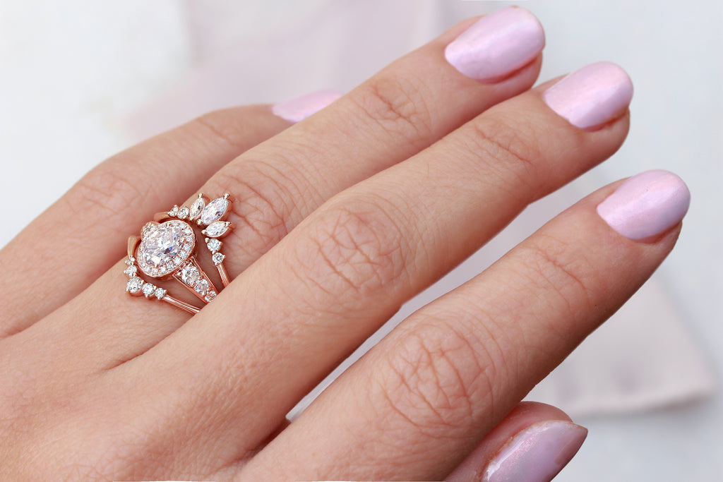 Oval Moissanite Vintage Engagement Ring, Donna - sillyshinydiamonds